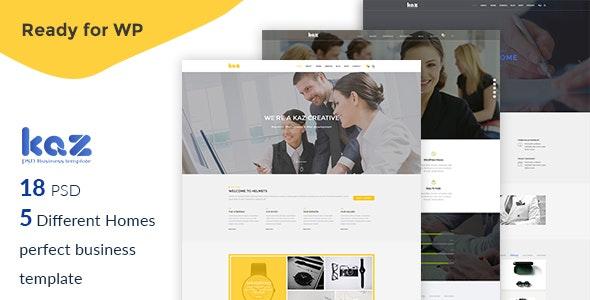 Kaz Business PSD Template - Business Corporate