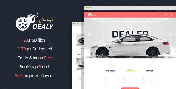 VehiDealy - Car Retail PSD Template - Business Corporate