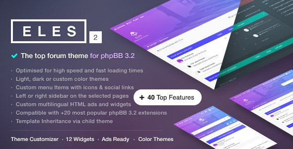 Eles - Responsive phpBB 3.2 Theme - PhpBB Forums