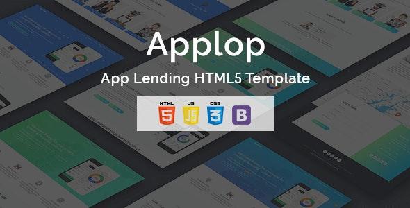 Applop - App Lending HTML5 Template - Technology Site Templates
