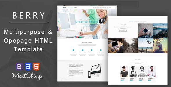 Barry – Business And Corporate Responsive HTML Template
