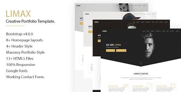 Limax Creative Portfolio Template - Creative Site Templates