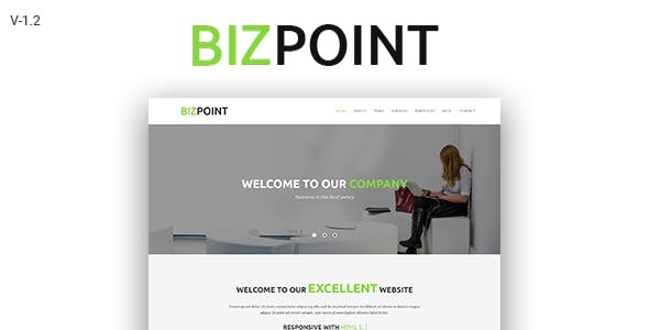Biz Point - One Page Parallax HTML5 Template