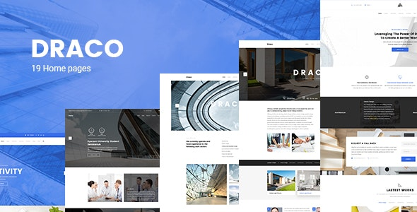 Draco -  Construction, Building, Business, and Architecture PSD Template - Business Corporate