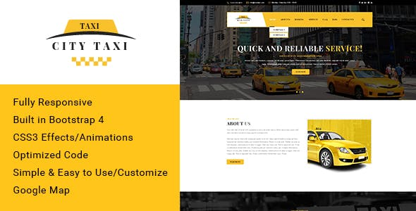 City taxi - Responsive HTML Template