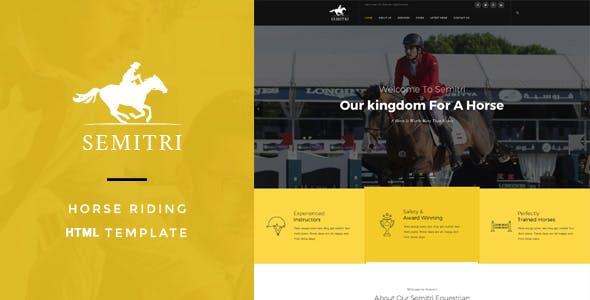 Semitri - Horse Riding HTML Template