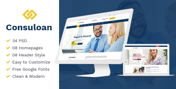 Consuloan | Multipurpose Consulting HTML Template - Business Corporate