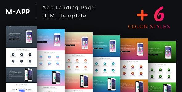 M-App - Mobile App Showcase HTML Template - Software Technology