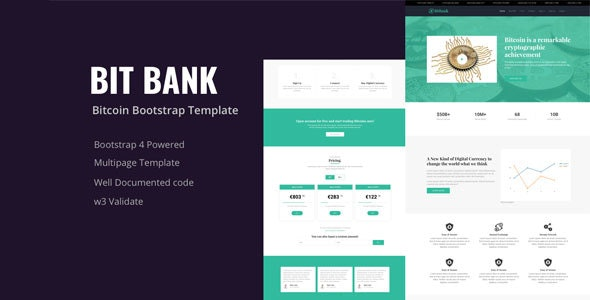 Bitbank Bitcoin Cryptocurrency Template - Marketing Corporate