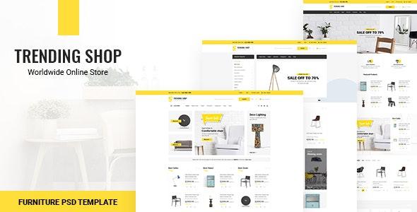Trending Shop - Furniture PSD Template - Shopping Retail
