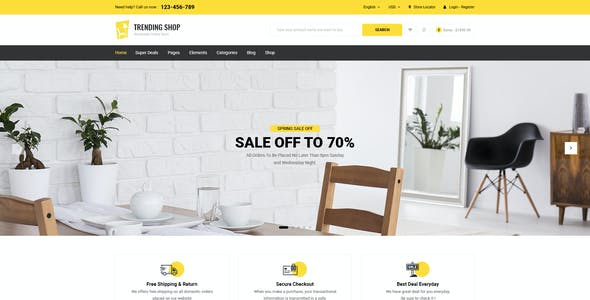 Trending Shop - Furniture PSD Template