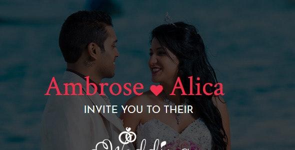 Wedding-Responsive Wedding Template - Wedding Site Templates