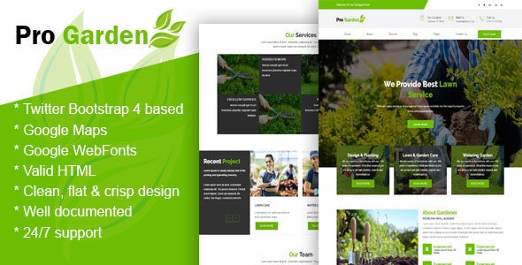Progadan - Gardening & Landscaping HTML Template - Business Corporate