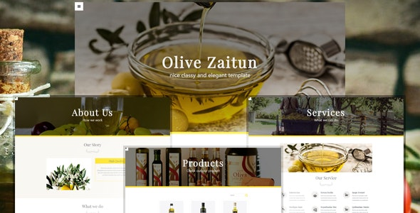 Olive Zaitun Muse - Muse Templates