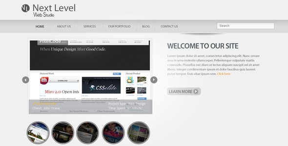 Next Level - A Premium PSD Template - Portfolio Creative