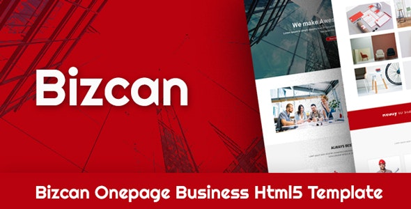 BIZCAN Onepage Business HTML5 Template - Business Corporate