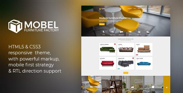 mobel furniture html template retail site templates