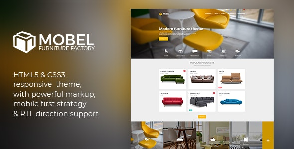 Mobel - Furniture HTML Template - Retail Site Templates