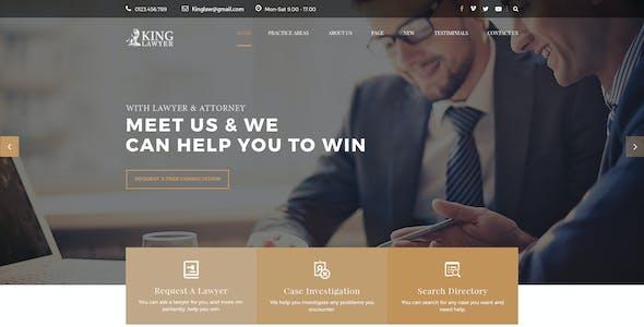 Kinglaw - Attorney & Lawyer PSD Template