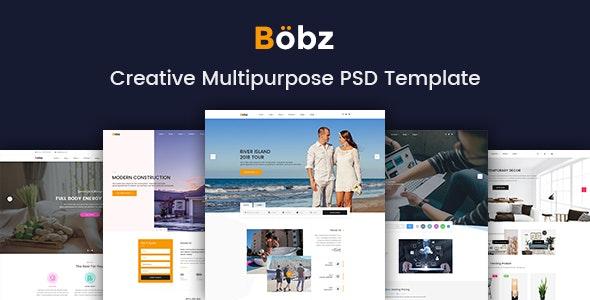 Bobz - Creative Multipurpose PSD Template - Photoshop UI Templates