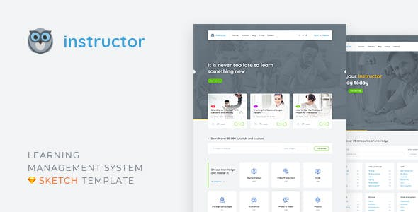 Education Sketch App Templates from ThemeForest