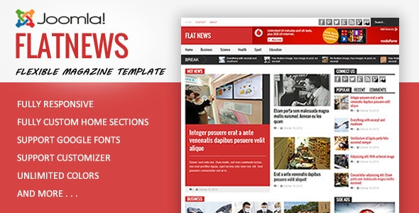 FlatNews - Magazine Joomla Template - Blog / Magazine Joomla