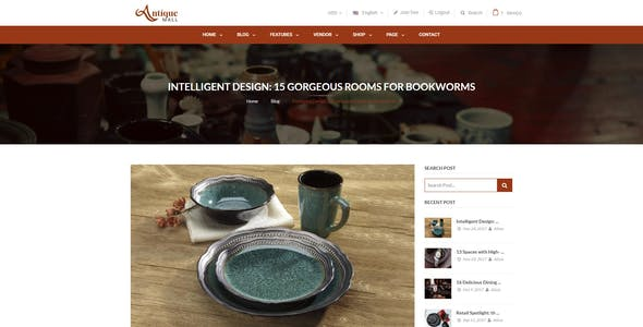 Mag2Antique - Magento 2 Theme for Antique Store Marketplace