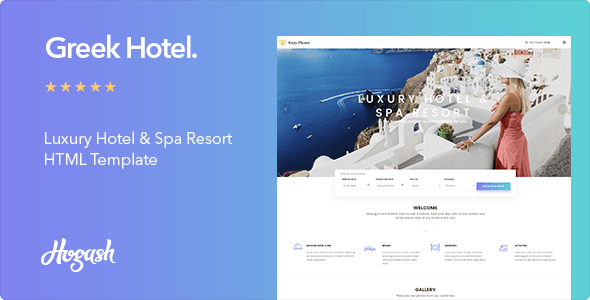 Greek - Hotel HTML Template - Travel Retail