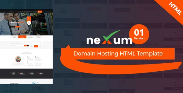 neXum Host - Hosting and Domain HTML Template - Hosting Technology