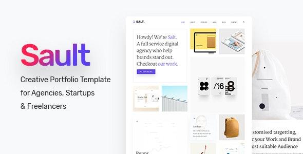 Sault - Creative Portfolio Template for Agencies, Startups & Freelancers - Creative Photoshop