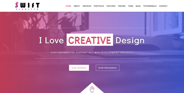 Swift - Creative One Page Template - Creative Site Templates