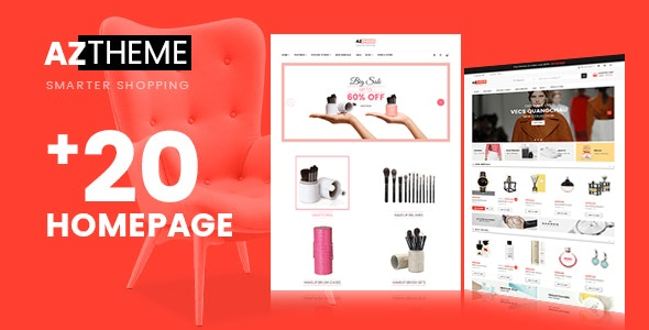 AZtheme - eCommerce PSD Template - Retail Photoshop