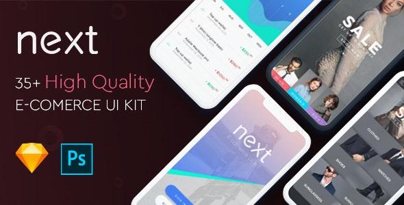 Next Ecommerce - UI Kit - Sketch UI Templates