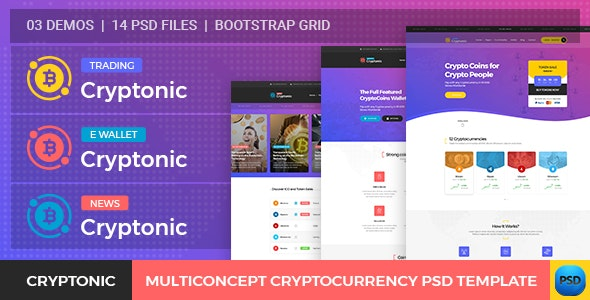 Cryptonic - Cryptocurrency PSD Template - Business Corporate