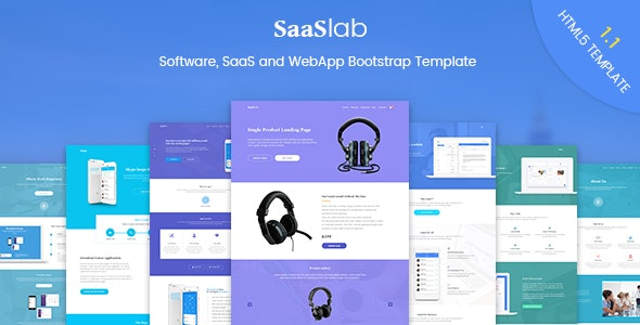SaaSLab - Software, SaaS and WebApp Bootstrap Template - Software Technology