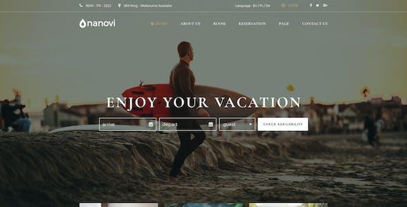 Nanovi - Resort and Hotel Template