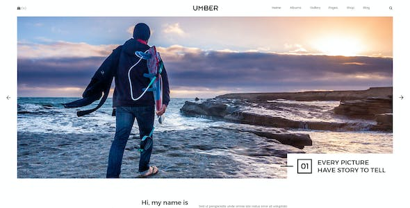 Umber   Photography PSD Template