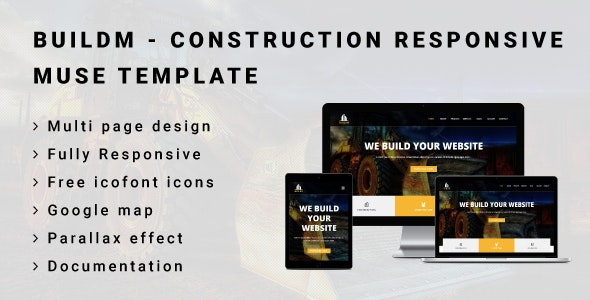 BUILDM - Construction Responsive Muse Template - Corporate Muse Templates