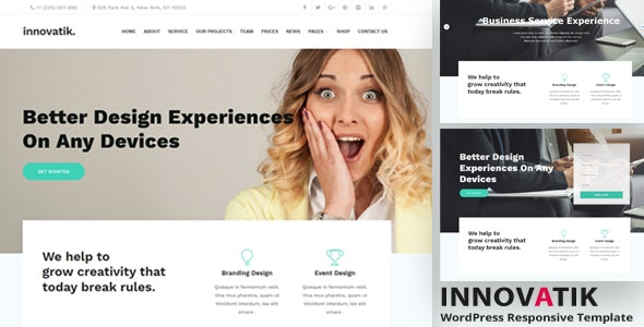 Innovatik - Professional Corporate WordPress Theme - Corporate WordPress