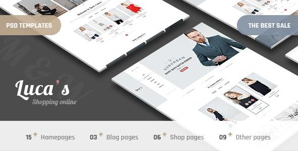 Luca's - Minimal Shop PSD Templates - Fashion Retail