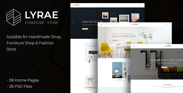 Lyrae | Furniture Store and Handmade Shop PSD Template - Shopping Retail