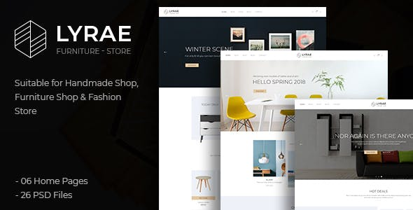 Lyrae | Furniture Store and Handmade Shop PSD Template