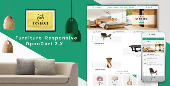 Skyblue Furniture OpenCart 3.x Responsive Theme - OpenCart eCommerce