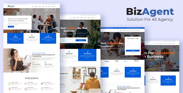 BizAgent - Creative Digital Agency Responsive HTML Template - Business Corporate