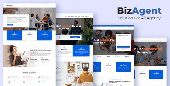 BizAgent - Creative Digital Agency Responsive HTML Template