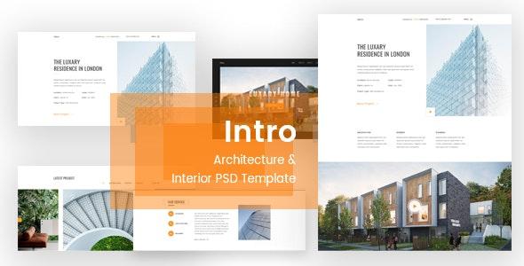 Intro - Architecture & Interior PSD Template - Creative Photoshop