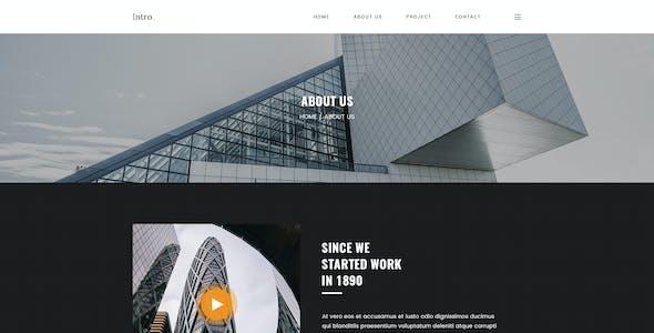 Intro - Architecture & Interior PSD Template