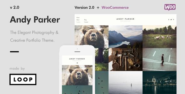 Andy Parker - Creative Photography & Portfolio WordPress Theme - Creative WordPress