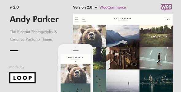 Andy Parker - Creative Photography & Portfolio WordPress Theme