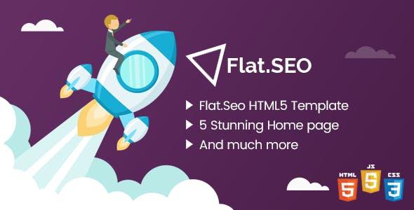 Flat SEO - HTML Bootstrap 4 Template
